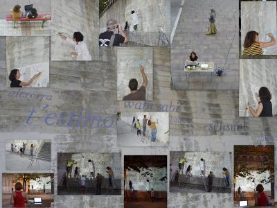 Un muro de imágenes